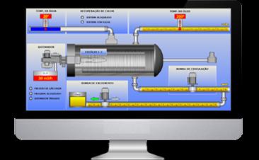 Sistema de controle e supervisão de caldeira